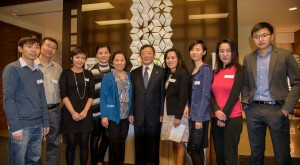 Volunteers with Zhenting Gao