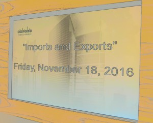 2016 Imports and Exports