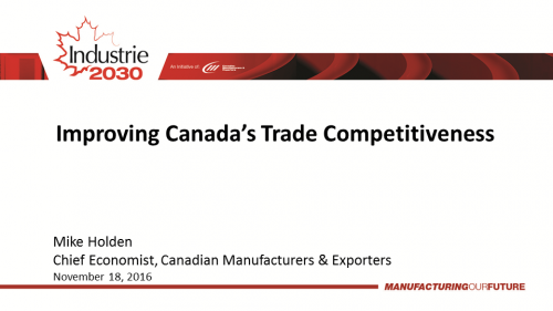 Improving Canada's Trade Competitiveness - Mike Holden